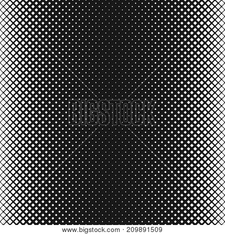 Geometric abstract black and white rounded square pattern background - vector design with diagonal squares