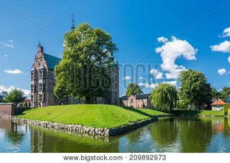 Copenhagen Denmark - september 3 2017: Rosenborg Castle (Rosenborg Slot) is a renaissance castle located in Copenhagen. The castle was originally built as a country summerhouse in 1606 and is an example of Christian IV's many architectural projects.