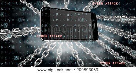 Virus background against dark background