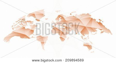 Rounded World Map. Vector Illustration of world map.