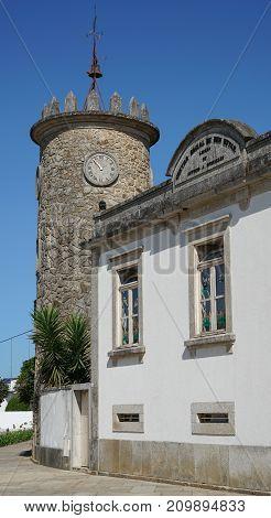 Clocktower of Sao Pedro de Rates Camino de Santiago Portugal