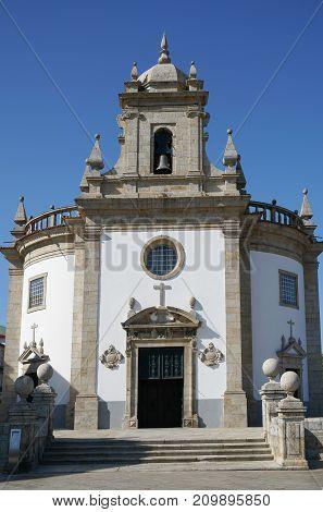 Baroque Church of Bom Jesus da Cruz in the city center of Barcelos, Portugal, Europe