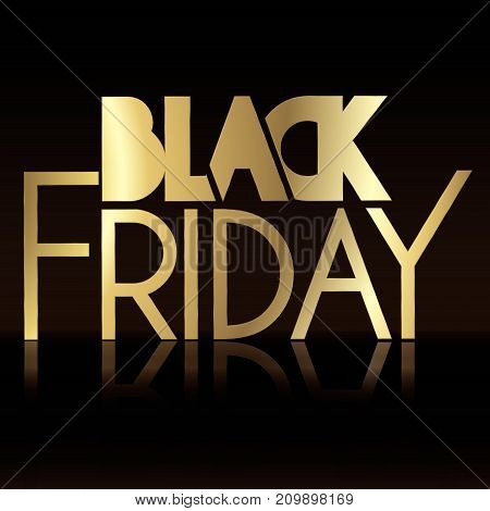 Black and gold friday background full vector element