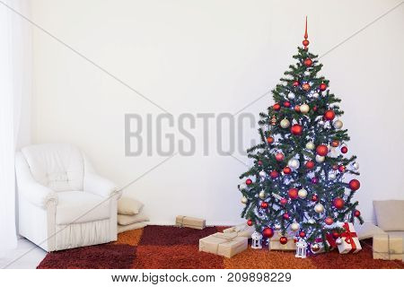 Christmas tree with presents home for the new year 1