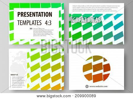 Set of business templates for presentation slides. Easy editable abstract vector layouts in flat design.