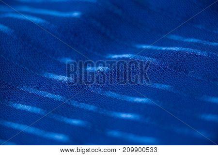 Close-up of blue textile