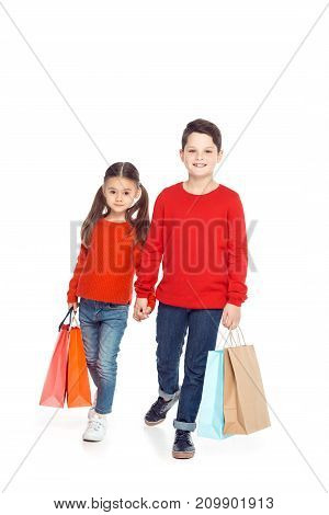 Siblings With Shopping Bags