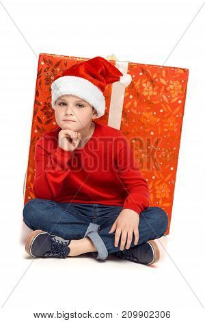 Boy With Big Christmas Present