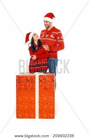Couple With Big Christmas Present