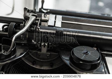 Old Manual Typewriter Machine Mechanism