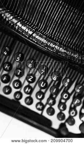 Vintage Manual Typewriter Vertical Fragment