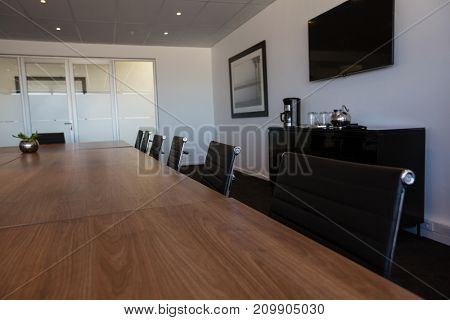 Interior of empty conference room at modern office
