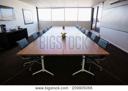 Interior of empty modern meeting room at office