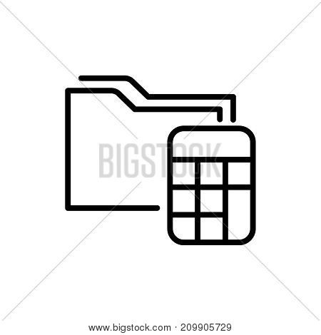 Premium accounting icon or logo in line style. High quality sign and symbol on a white background. Vector outline pictogram for infographic, web design and app development.