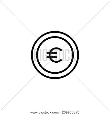 Modern coin line icon. Premium pictogram isolated on a white background. Vector illustration. Stroke high quality symbol. Coin icon in modern line style.