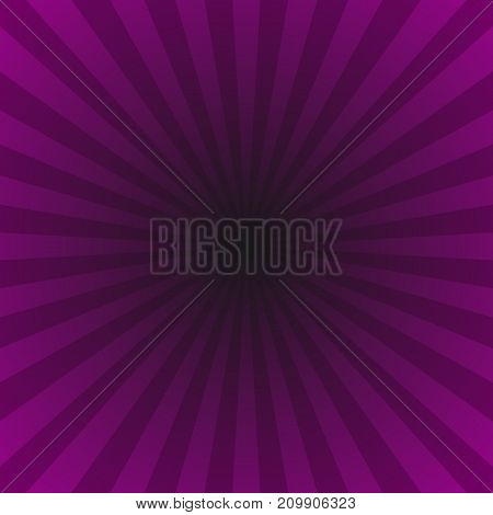 Purple gradient abstract dynamic star burst background - hypnotic vector graphic with radial rays