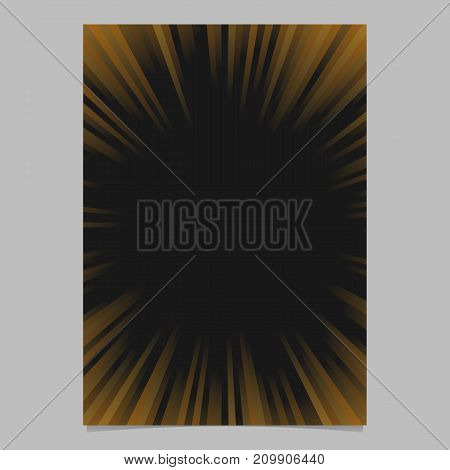 Gradient abstract ray burst page template - vector brochure, stationery background graphic design with radial stripe pattern
