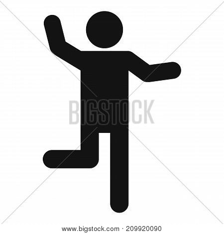 Stick figure stickman icon pictogram. Vector simple illustration of stickman icon isolated on white background. Man human stick sign