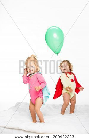 Toddlers In Superhero Capes
