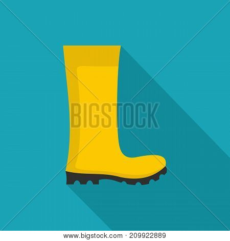 Rubber boots icon. Flat illustration of rubber boots vector icon for any web design