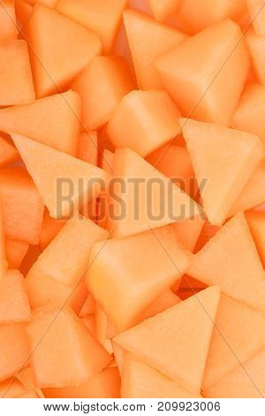 slice of japanese melons orange melon or cantaloupe melon for background