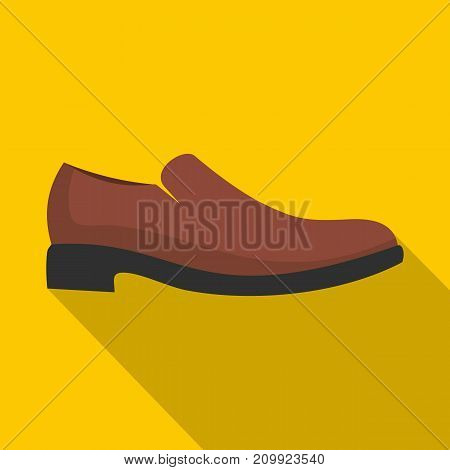 Men shoe icon. Flat illustration of men shoe vector icon for any web design