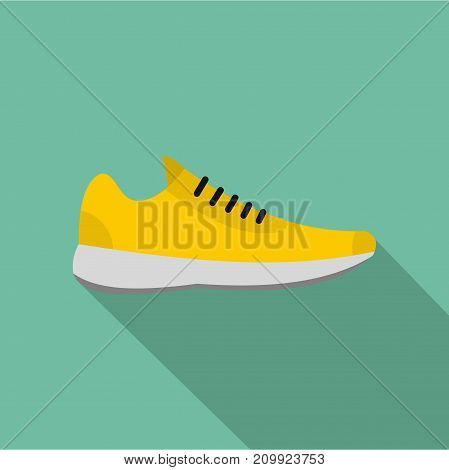 Sneakers icon. Flat illustration of sneakers vector icon for any web design