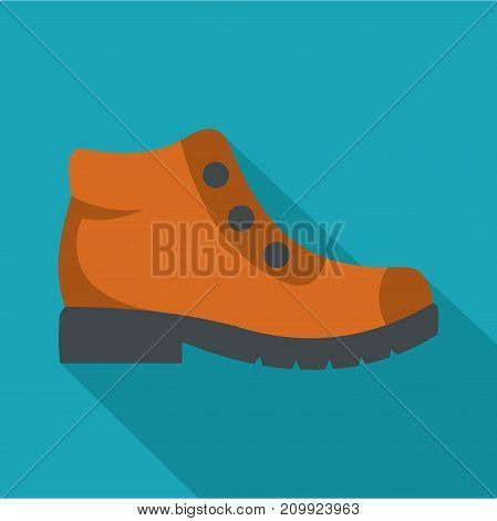 Hiking boots icon. Flat illustration of hiking boots vector icon for any web design