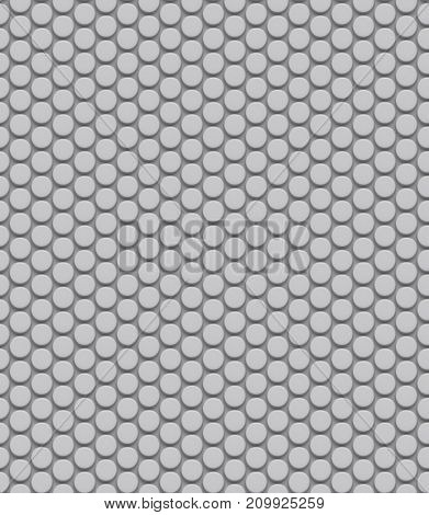 Seamless dotted white wall architectural texture. 3D illustration.