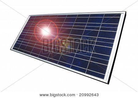 Solar panel, isolated