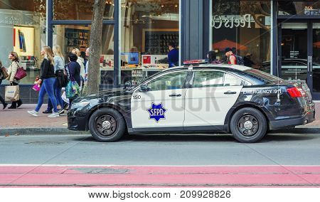 San Francisco CA USA october 22 2016: Car of San Francisco Police Department (SFPD)