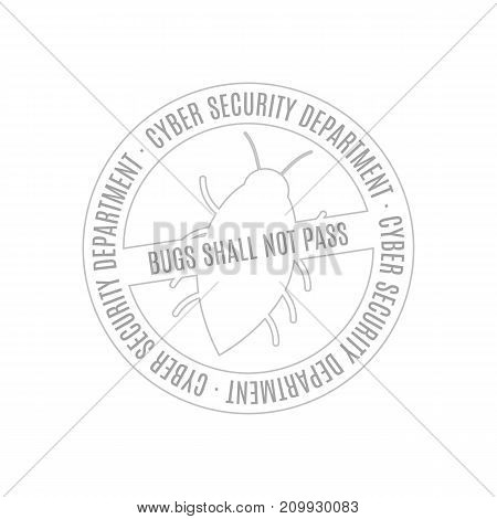 QA testing department stamp design. Vector icon illustration