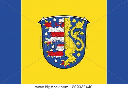 Flag of Hochtaunuskreis is a district in the middle of Hesse Germany. Vector illustration