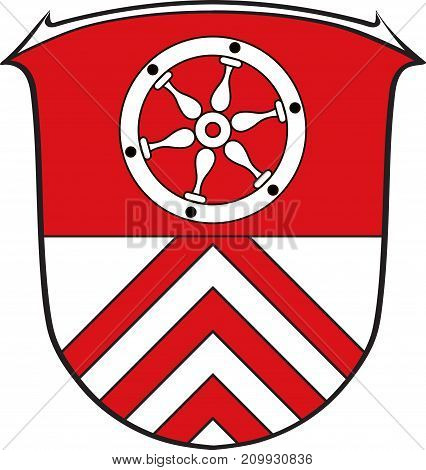 Coat of arms of Main-Taunus is a district in the middle of Hesse Germany. Vector illustration