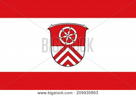 Flag of Main-Taunus is a district in the middle of Hesse Germany. Vector illustration