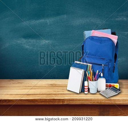 Back school backpack back to school art objects school background color