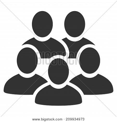 Men Collective vector icon. Style is flat graphic grey symbol.