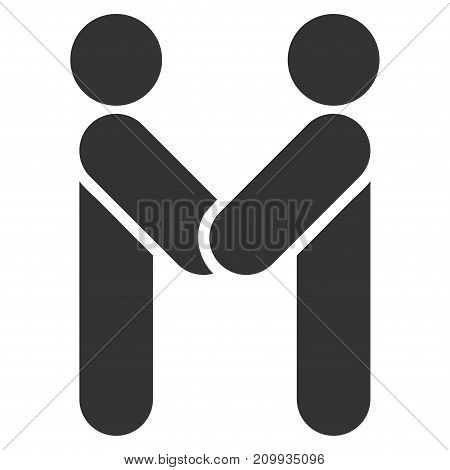 Persons Handshake vector icon. Style is flat graphic gray symbol.