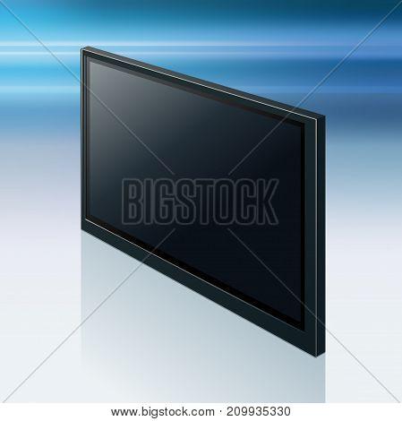 Realistic TV screen. Modern stylish lcd panel led type