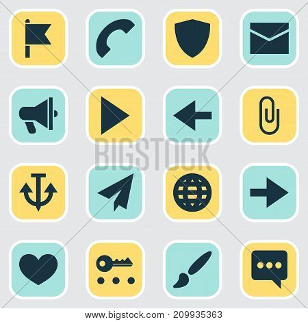 User Icons Set. Collection Of Armature, Painting, Messenger And Other Elements