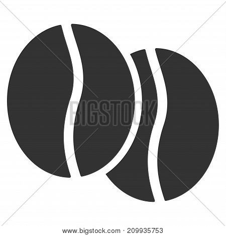 Coffee Beans vector pictograph. Style is flat graphic grey symbol.