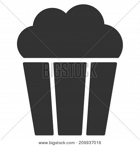 Popcorn Bucket vector icon. Style is flat graphic gray symbol.
