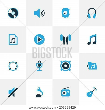 Multimedia Colorful Icons Set. Collection Of Vinyl, Folder, Playlist And Other Elements