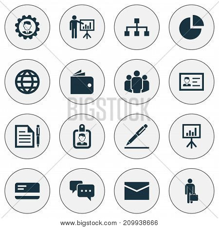 Trade Icons Set. Collection Of Leader, Envelope, Group And Other Elements