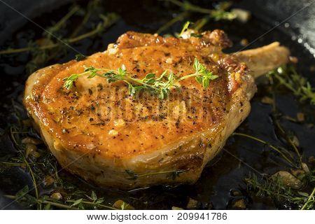 Homemade Roasted Bone In Pork Chop