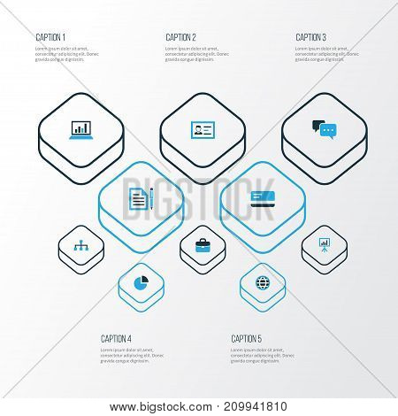 Trade Colorful Icons Set. Collection Of Whiteboard, Dialog, Analytics And Other Elements