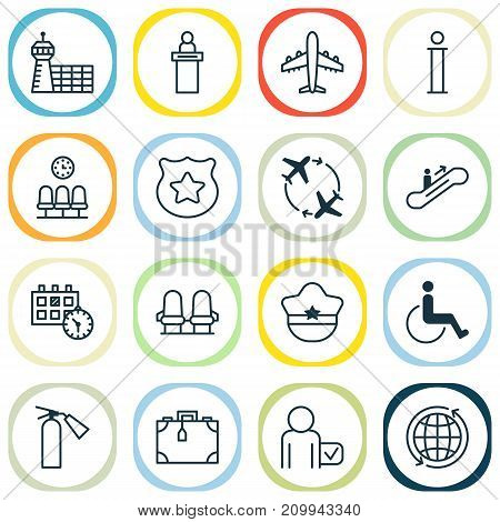 Travel Icons Set. Collection Of Registration Service, Accessibility, World And Other Elements
