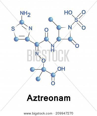 Aztreonam is a monobactam antibiotic used primarily to treat infections caused by gram-negative bacteria.