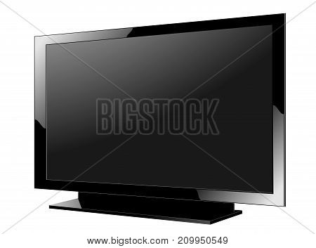 TV flat screen lcd plasma realistic vector illustration.