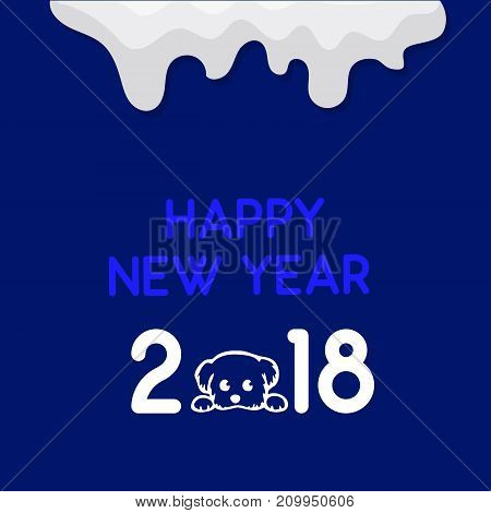 Happy new year. Blue background for flyer, poster, sign, banner.